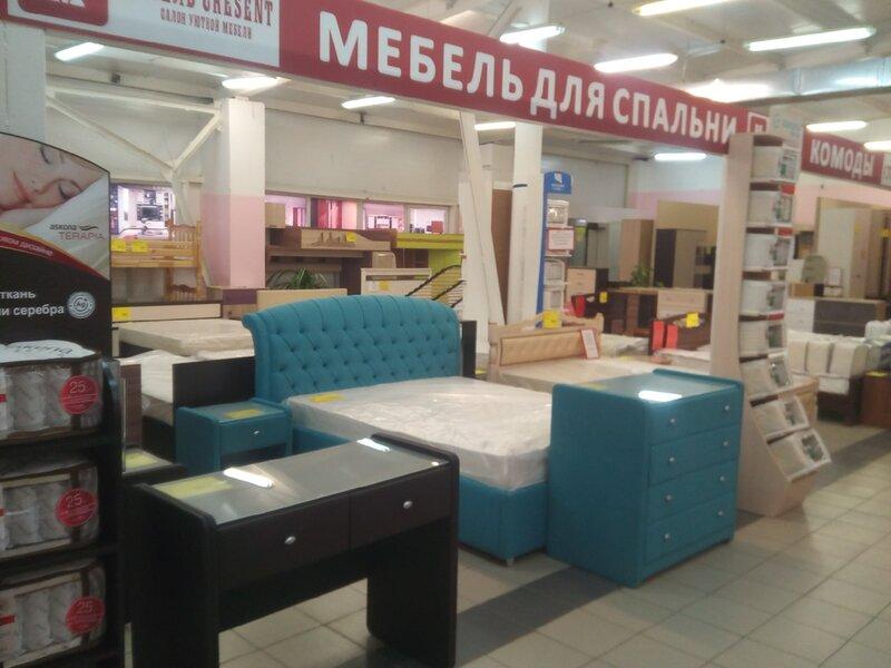 Внутри магазина мебели Cresent