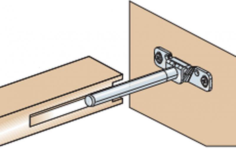 держатель для деревянной полки, незаметный после ее установки